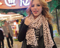 Wholesale Long leopard love villain deer pattern scarf long scarf shawl colorful scarf mixed