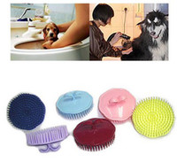 Wholesale Pet Hair Shampoo Scalp Body Massage Cleaning Brush Comb