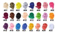 Wholesale 18PCS Women Girls Fashion Soft Linen Cotton Scraf Wraps Shawl Fashion Long Winter Warmmer Colorful