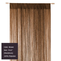Wholesale Decorating Brown string curtain for room divider pieces x12 x365cm
