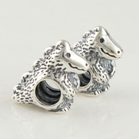 Wholesale Animal fashion beads sets with threaded fit european style bracelets and necklaces sterling silver charms loose beads LW069