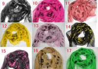 Wholesale 100pcs New Arrival Fashion Skull Scarves Shawls Xmas Gift Best Selling Mix Order yifei