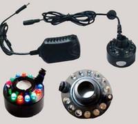 Cheap 2PCS LOT LED Panel Colorful Lights Ultrasonic Mist Maker Fogger Water Fountain Pond+Power Adapter bot