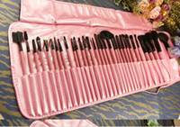 Wholesale Pro PINK Makeup Cosmetic Brush Kit Set Soft Case Makeup Brush Cosmetic set Kit