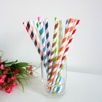 Wholesale gravity wave new Mix Free DHL Shipping Above Paper Straws birthday party Christmas Drinking Paper Straws