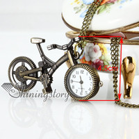 Europe bicycle jewellery - bicycle mens pocket watch pendant watch necklace Fashion jewellery