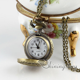 double night owl pocket watch chains pendant watches Fashion necklace