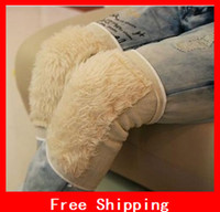 Wholesale Winter Thermal Plush Kneepad Artificial Wool Kneepad Thickening Thermal Kneepad