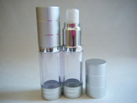 Wholesale 15ML airless bottle or plastic lotion bottle with airless pump can used for Cosmetic Sprayer or Cosm
