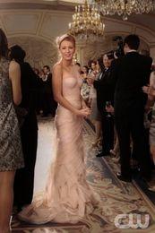 Modest Farrah Elgant One Shoulder Blush Blair's Bridesmaid Dress Ruffled Long Tulle Organza Dresses dhyz 01
