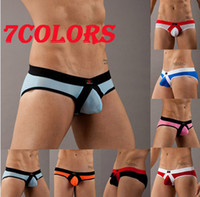 Wholesale 7 Colors New Adult Sexy Mens Boxer Briefs Comfort Pouch Low Rise Underwear Shorts size M L with tracking number