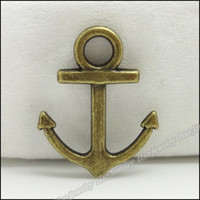 Wholesale Retro Charm Anchor Pendant Antique bronze Alloy Fit Bracelet amp Necklace DIY Metal Jewelry