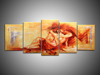 Wholesale Modern Nude woman art oil Paintings with frame Artwork Wall Decoration High Quality