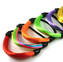 Wholesale Multicolored hair piece hair band elastic hairband fashion women hair ring hair accessories
