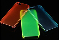 Clear For Apple iPhone For Christmas Cell Phone Cases For Iphone5 4 5G Covers Protector Colourful Transparent Frost Mix Order Free DHL
