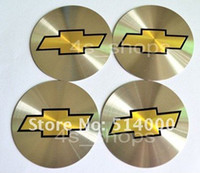 Wholesale One set Chevrolet Logo Wheel Center Hub Cap Emblem Sticker mm car decal