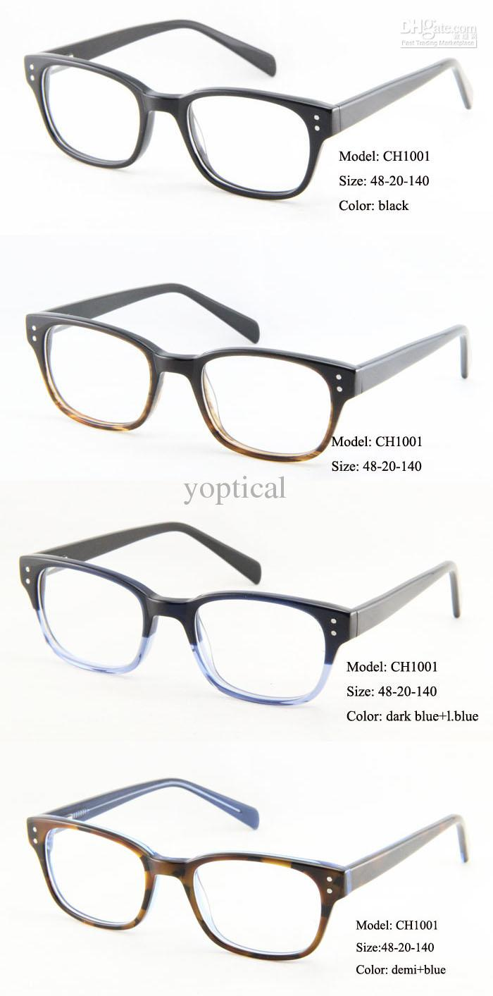 How To Pick Eyeglass Frame Color : Wholesale Designer Glasses Mens Retro Acetate Optical Eye ...