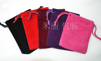 Wholesale Fashion CM Velvet Jewelry Gift Bags Gift packaging bag High quality