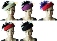 Wholesale NEW ARRIVAL Wool felt hat winter hat with feathers best choice for winter