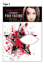 Wholesale Newest fashion Rocking Face amp Body Tattoo Sticker Temporary Tattoos eye stickers fashion tatoo