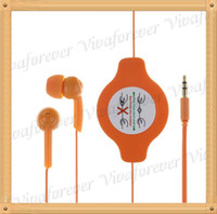 Wholesale Cheap New Colorful mm Retractable Earphone