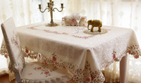 Wholesale Fashion rustic table cloth dining chair cover quality embroidered