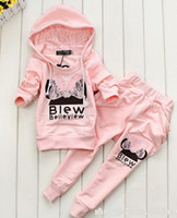 Girl track suit - NEW girl s hoodies outfit pink suit coat pant tracking suit WL680F