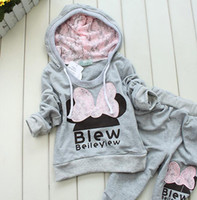 Girl track suit - NEW boy s hoodies outfit gray color suit coat pant tracking suit WL679F