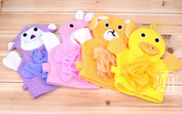 Wholesale Gloves new cartoon bath rub child five colors Cartoon style With bath flower toddler