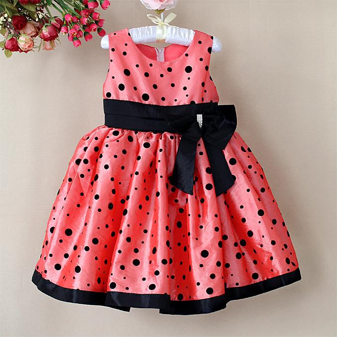 New Fashion Baby Girl Princess Dress Pink Girls Party Dresses With - Baby girls clothes