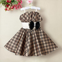 3-8T Summer Sleeveless 2013 Christmas Girl Princess Dress Brown Color Girls Infant Party Dresses Children Clothes