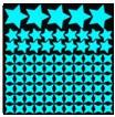 Wholesale glow in dark star sticker with cross stars set of with moon as free gift