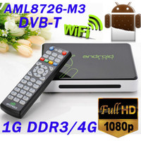 Wholesale Android TV box with Remote Control with DVB T Full HD P Amlogic M3 G DDR3