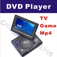 Wholesale 7 inch home portable dvd player TV GAME USB MP4