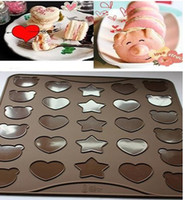 Wholesale Silicone Macaroon Macaron Baking Pastry Cookie Sheet Mat Party DIY Food cartoon heart star bear