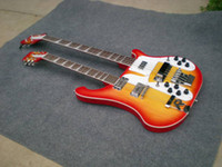 Solid Body 6 Strings Mahogany Wholesale Cherry Burst 4003 Double Neck Electric Bass Guitar 412 Strings Ebony Board