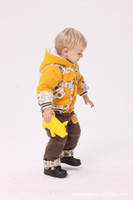 Christmas Boy 0T-3T 2012 baby boys 2pcs suits Coat+pants cool kids 3 colors clothing Winter clothes suit 12sets lot