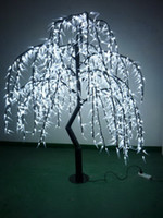 Artificial Plants willow tree - AC110V V m high Pure White LED willow tree light for Christmas holiday garden street decoration