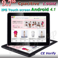 Wholesale 9 Inch RK3066 IPS Tablet PC G G Supper Slim Android Dual Core external G with bluetooth Capacitive Screen