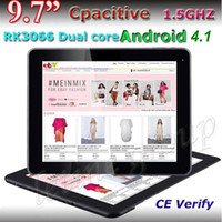 Wholesale Cheapest Inch RK3066 Tablet PC Dual Core Android Capacitive IPS Screen external G with bluetooth