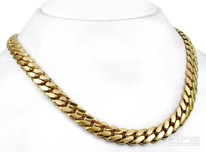 10k Gold Cuban Link Chain >> 2017 Solid Mens 10k Yellow Gold Curb Cuban Link Chain 32 Inches From Shansh, $67.34   Dhgate.Com
