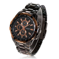 Wholesale Exquisite Curren Man s Leisure Black Wrist Watch Black