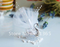 Wholesale Acrylic Silver Swan Sweet Love Wedding Gift Jewelry Candy Box