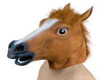 Wholesale Creepy Horse Mask Head Halloween Costume Theater Prop Novelty Latex Rubber