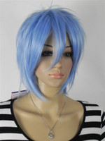 Wholesale 2012 New Blue Lovely Anime Cosplay Wigs more styles for your choose