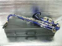 Wholesale NEW blue Tenor saxophone with case Musical instrument