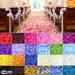Wholesale 15 off Silk Rose Flower Petals Leaves Wedding Table Decorations