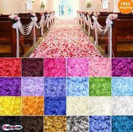 15%off! 2800pcs Silk Rose Flower Petals Leaves Wedding Table Decorations