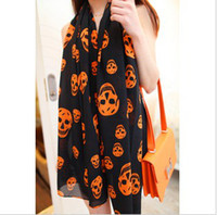 Wholesale New Fashion personality Skeleton head scarves The woman scarf CC