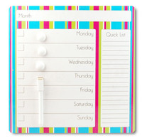 Wholesale Color bar magnetic dry erase message board calendar fridge magnet